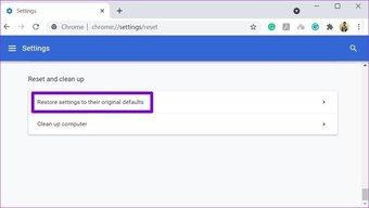 Réinitialiser Chrome