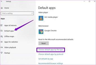 Modifier l'application par défaut par type de fichier