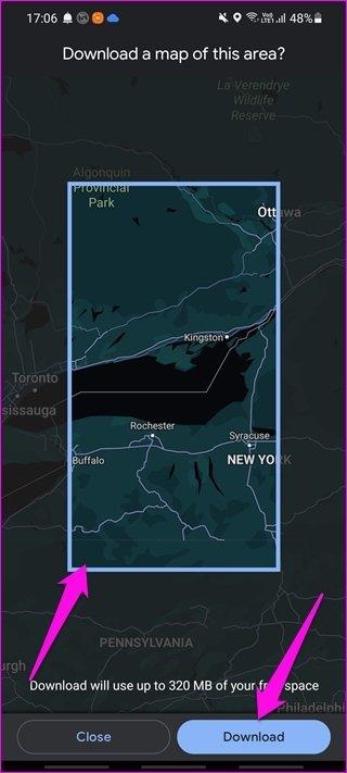 Comment utiliser Google Maps hors ligne sur Android et i OS 4