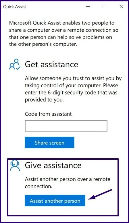 Guide d'utilisation de l'assistance rapide sur Windows 10 étape 9