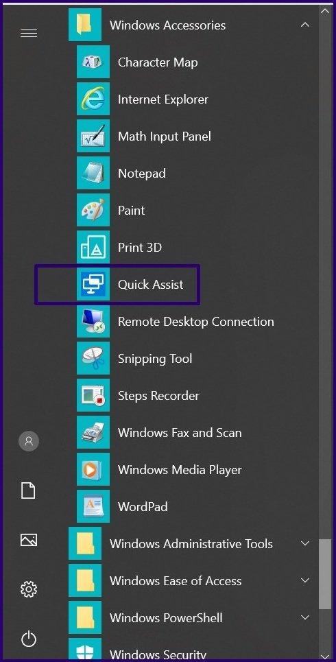 Guide d'utilisation de l'assistance rapide sur Windows 10 étape 5