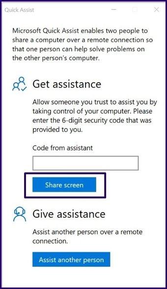 Guide d'utilisation de l'assistance rapide sur Windows 10 étape 8