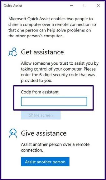 Guide d'utilisation de l'assistance rapide sur Windows 10 étape 7