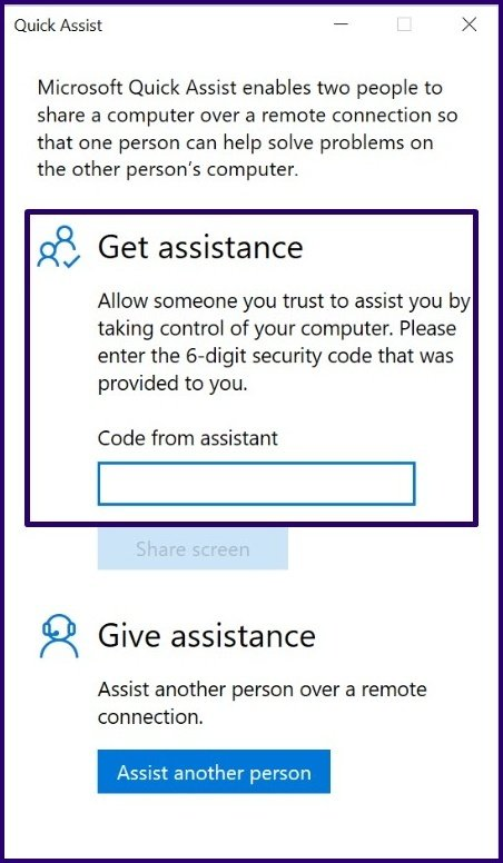 Guide d'utilisation de l'assistance rapide sur Windows 10 étape 6