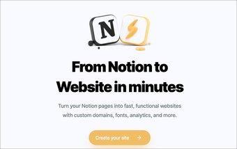Site Internet de Notion
