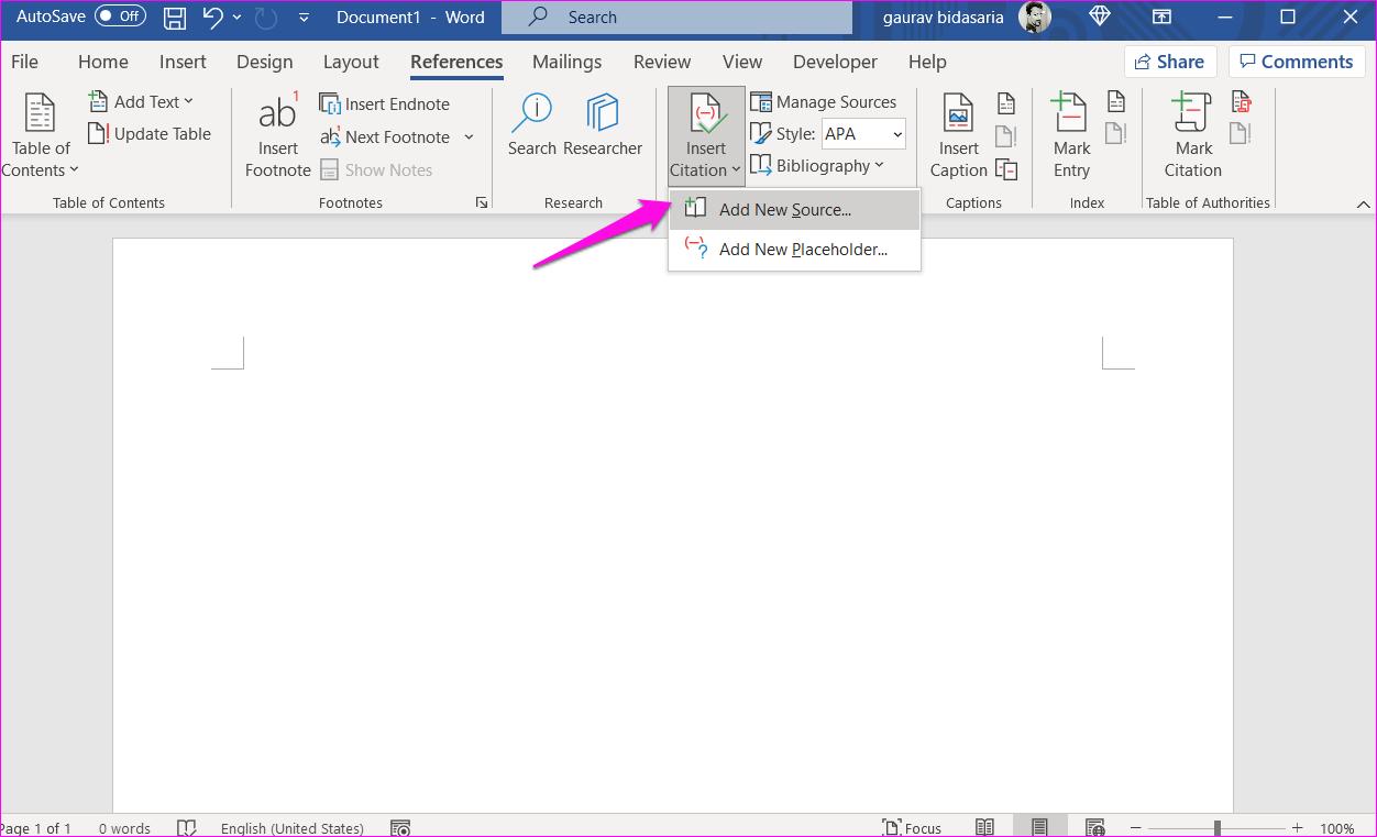 Comment ajouter des citations et une bibliographie dans Microsoft Word 2