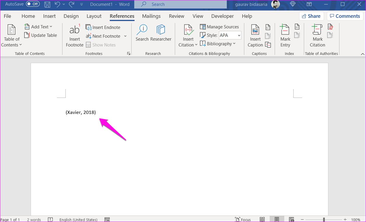 Comment ajouter des citations et une bibliographie dans Microsoft Word 4