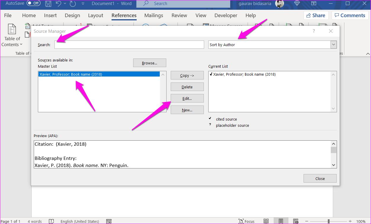 Comment ajouter des citations et une bibliographie dans Microsoft Word 7