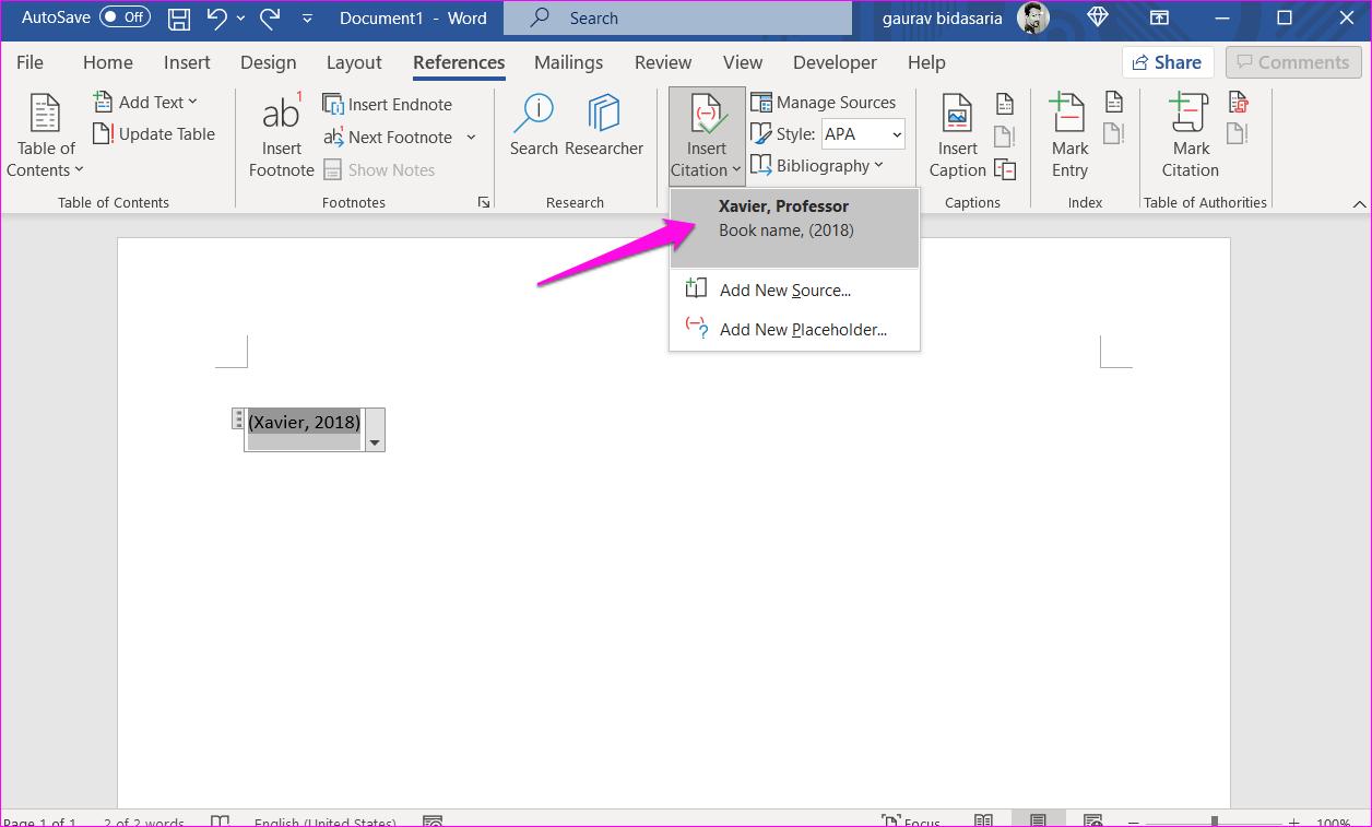 Comment ajouter des citations et une bibliographie dans Microsoft Word 5