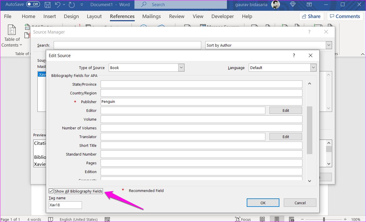 Comment ajouter des citations et une bibliographie dans Microsoft Word 9