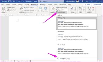 Comment ajouter des citations et une bibliographie dans Microsoft Word 10