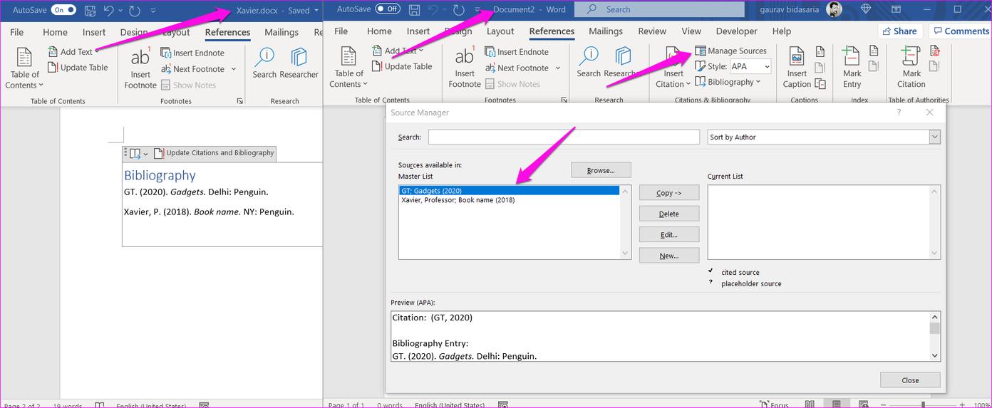 Comment ajouter des citations et une bibliographie dans Microsoft Word 14