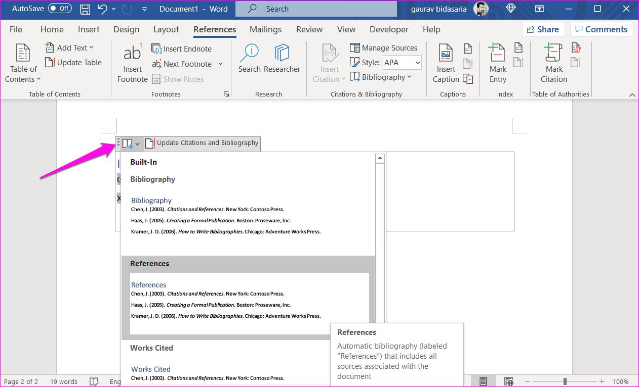 Comment ajouter des citations et une bibliographie dans Microsoft Word 13