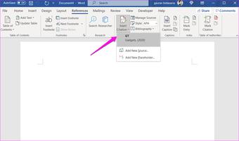 Comment ajouter des citations et une bibliographie dans Microsoft Word 15