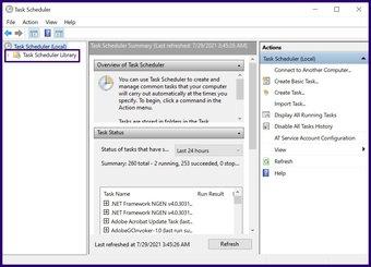 Désactiver les tâches planifiées sur Windows 10 étape 4