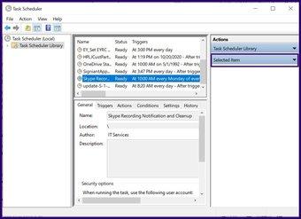 Désactiver les tâches planifiées sur Windows 10 étape 6