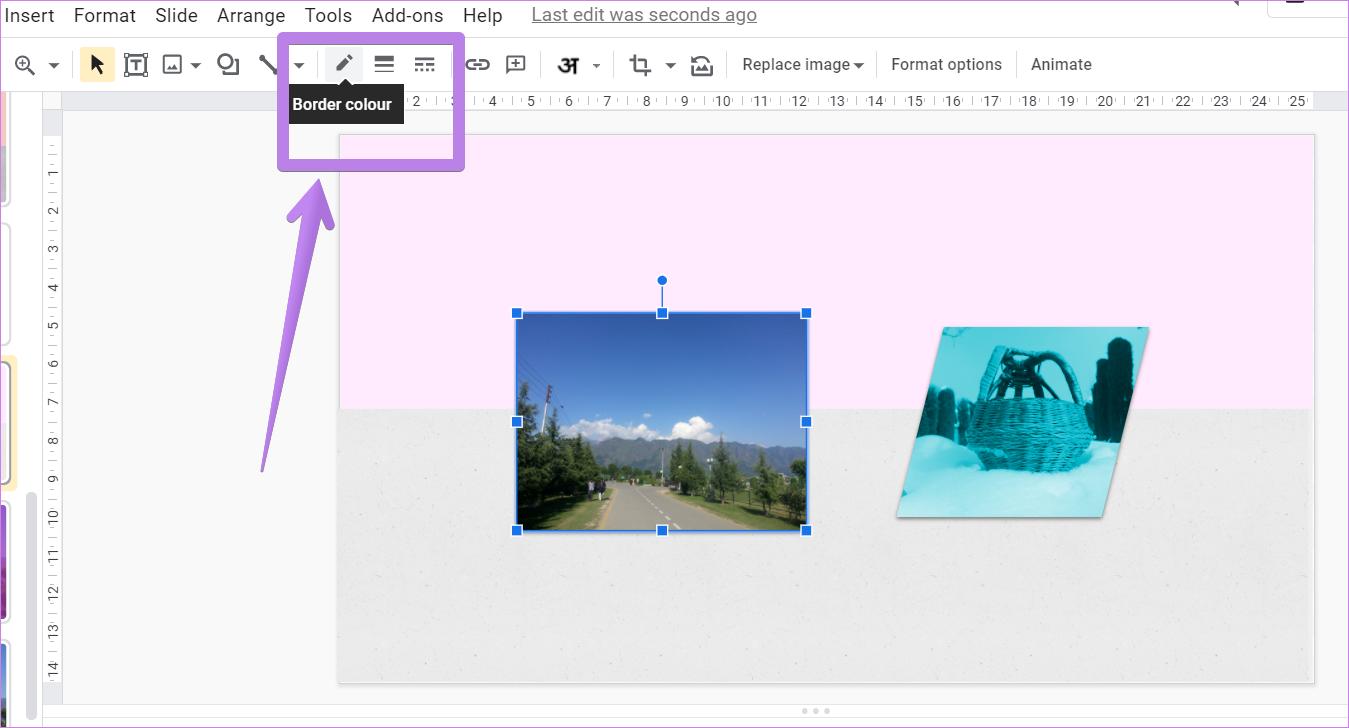 Ajouter une bordure autour de l'image dans Google Slides 1