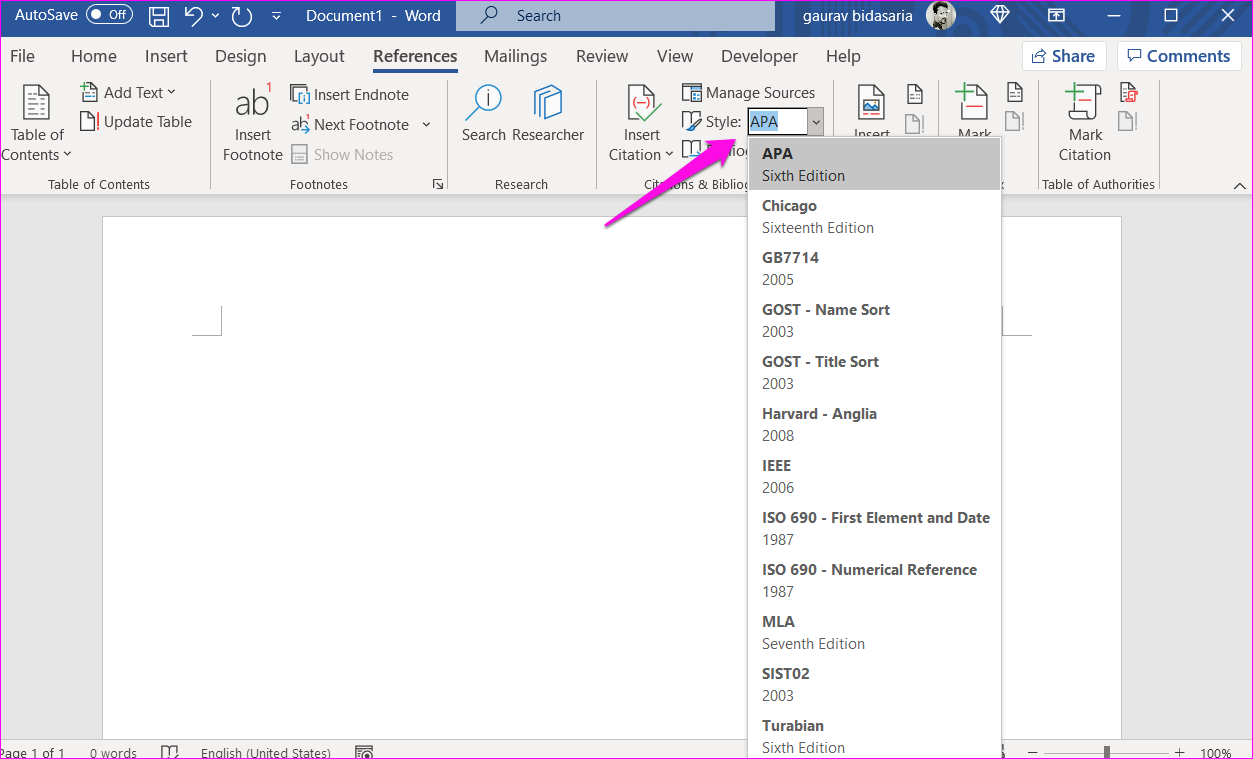 Comment ajouter des citations et une bibliographie dans Microsoft Word 1